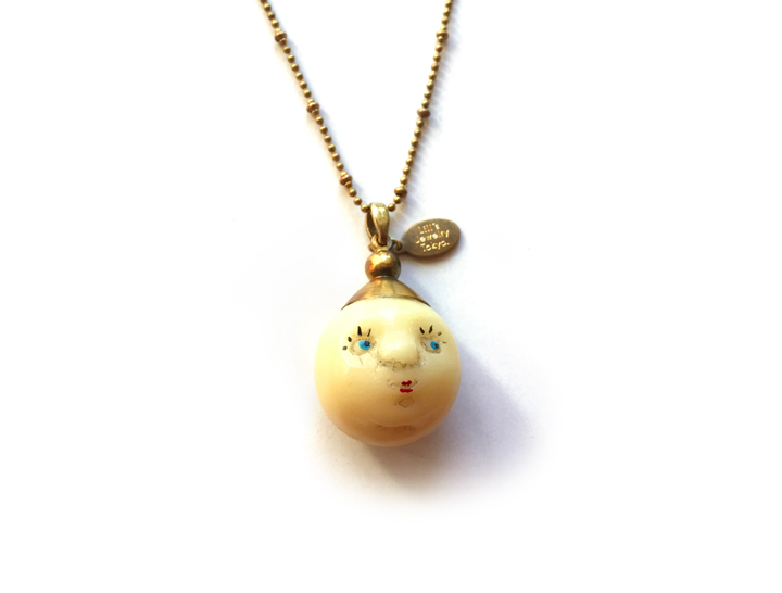 "Amulet of ""Moonface"" by Lill's Jewelry Tokyo."