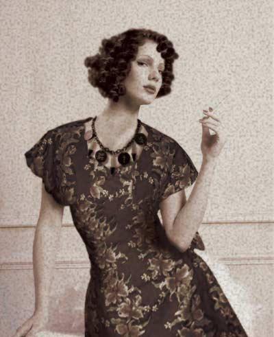 Fashion Vogue on Style Charm Necklace Clothing Sayaka Pinky Cat 40 S 50 S Fashion
