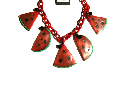 Lill's Jewelry Tokyo. by A Plastic Jewelry & Arty. | 1920's - 1930's - 1940's Vintage Style Fruit & Vegetable motif Jewelrys.